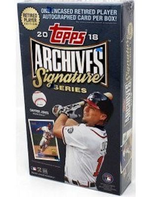 2018 TOPPS ARCHIVES SIGNATURE SERIES BASEBALL (RETIRED PLAYER EDITION)