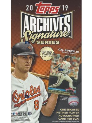 2019 TOPPS ARCHIVES SIGNATURE SERIES BASEBALL (RETIRED PLAYER EDITION)