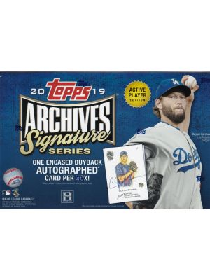 2019 TOPPS ARCHIVES SIGNATURE SERIES BASEBALL (ACTIVE PLAYER EDITION)