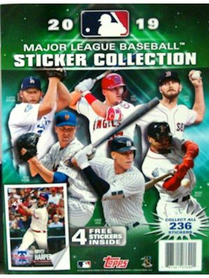 2019 TOPPS STICKER COLLECTION BASEBALL ALBUM