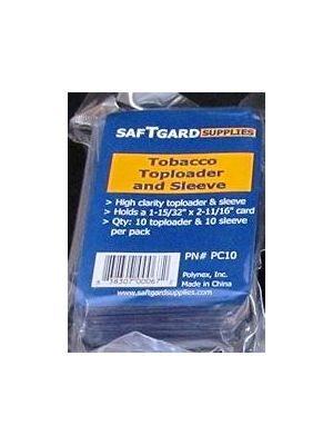 MINI/TOBACCO CARD TOP LOADER PACK (W/ SLEEVE) [10 CT]