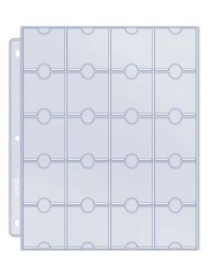 ULTRA PRO PLATINUM 20-POCKET CARD PAGES [50 CT]