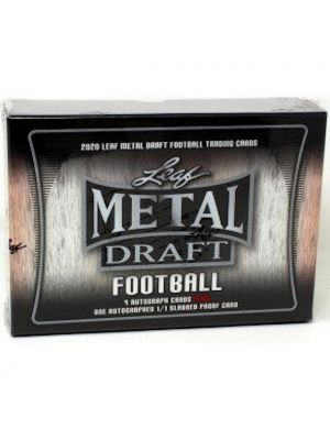 2020 LEAF METAL DRAFT FOOTBALL (JUMBO)