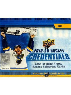 2019/20 UPPER DECK CREDENTIALS HOCKEY