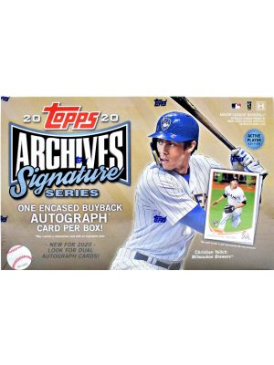 2020 TOPPS ARCHIVES SIGNATURE SERIES BASEBALL (ACTIVE PLAYER EDITION)