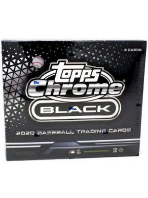2020 TOPPS CHROME BLACK BASEBALL