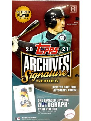 2021 TOPPS ARCHIVES SIGNATURE SERIES BASEBALL (RETIRED PLAYER EDITION)