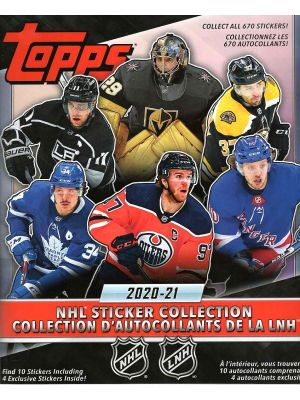 2020/21 TOPPS STICKER COLLECTION HOCKEY ALBUM