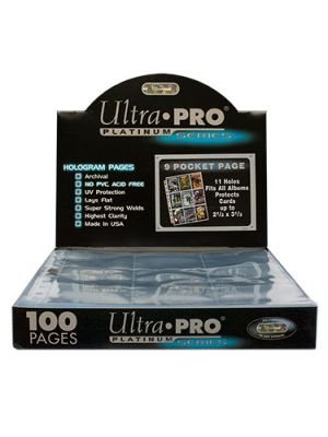 ULTRA PRO PLATINUM 9-POCKET CARD PAGES BOX [100 CT]