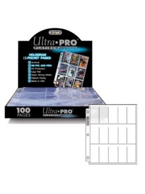 ULTRA PRO PLATINUM 15-POCKET CARD PAGES BOX [100 CT]