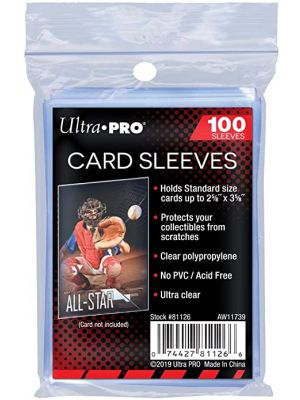 SOFT SLEEVES PACK (STANDARD CARD) [100 CT] *5 MAX PER ORDER*