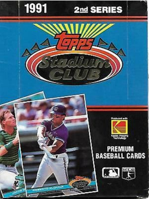 1991 TOPPS STADIUM CLUB 2 BASEBALL