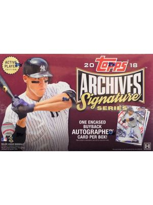 2018 TOPPS ARCHIVES SIGNATURE SERIES BASEBALL (ACTIVE PLAYER EDITION)