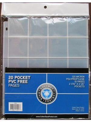 CSP 20-POCKET CARD PAGES PACK [10 CT]