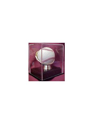 DELUXE ACRYLIC GOLD GLOVE BASEBALL DISPLAY CUBE