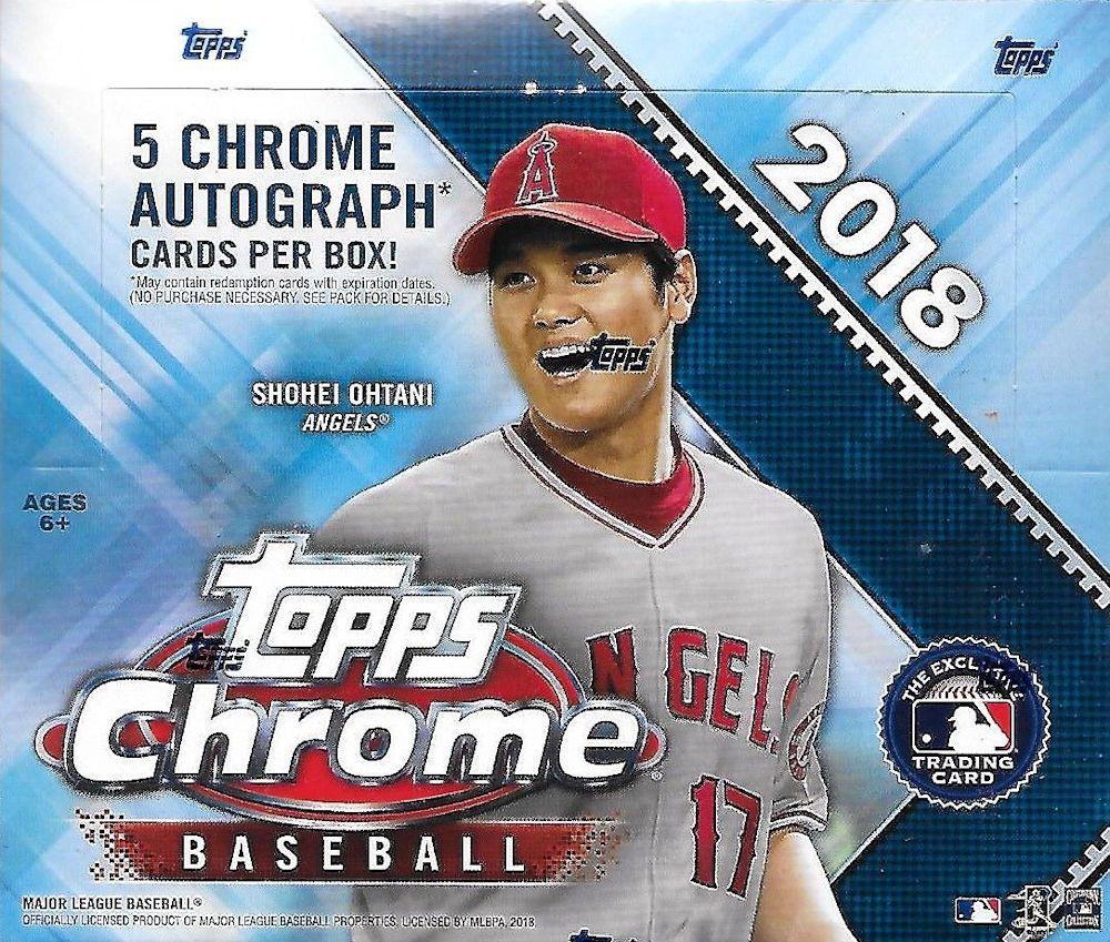 2018 Topps Chrome Baseball Jumbo