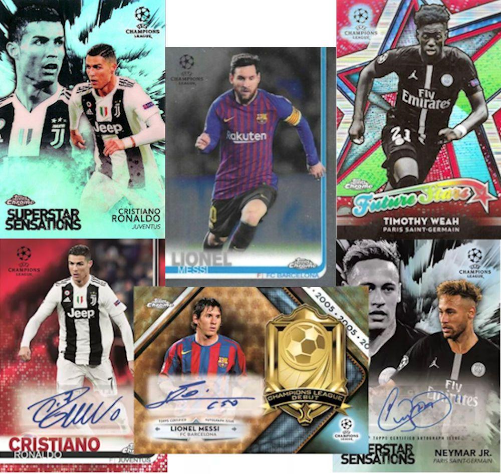 2018//19 18 pks//bx 2019 Topps Chrome UEFA Champions League HOBBY Soccer