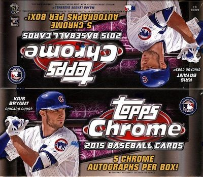 2015 Topps Chrome Baseball Jumbo