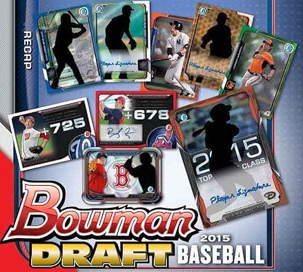 2015 Bowman Draft Picks /& Prospects Baseball Hobby Box