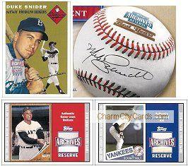 2002 Topps Archives Reserve Best Years Baseball
