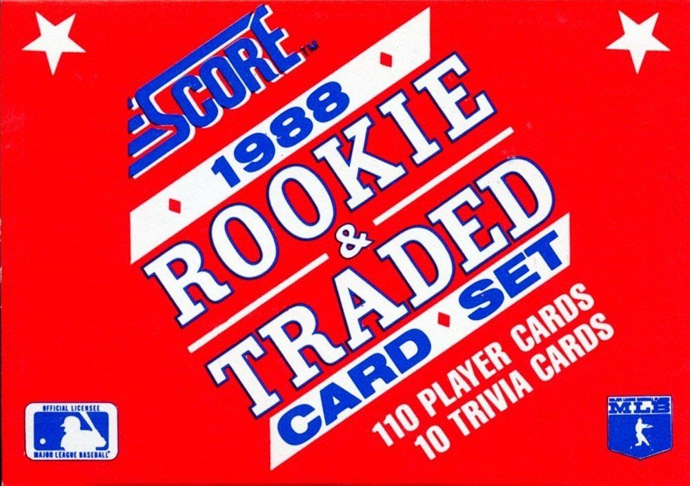 1988 Score Rookie Traded Baseball Set