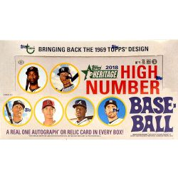 2018 TOPPS HERITAGE HIGH NUMBER BASEBALL