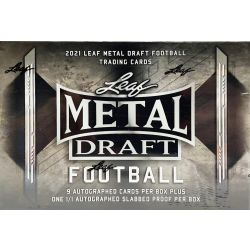 2021 LEAF METAL DRAFT FOOTBALL (JUMBO)